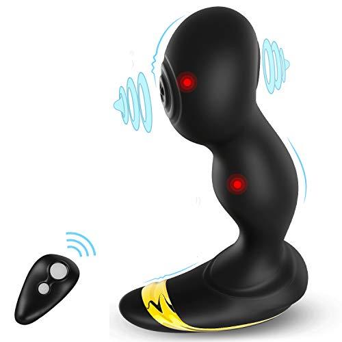 Prostata Stimulator Analvibratoren Prostata-Massagegeräte Mit 6 Links-Rechts-Schlagmodus und 6 Stimulationsmodi für Männer Weiblich Anusspiele, UTIMI Analplugs Butt Plug P-Punkt mit Fernbedienung