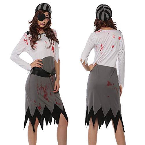 COOGG Volwassen Vrouwen Halloween Zombie Kostuum Dames Horror Kleding Enge Piraat Outfit Joker Duivel Wicca Jurk Voor Meisjes