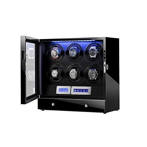 AMITD - Reloj de pulsera automático para piano (pintura y PU, con 5 motores rotatorios y silenciosos)