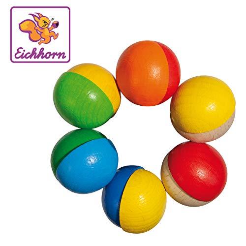Eichhorn Hochet demi-sphères en bois jouet à saisir, multicolore