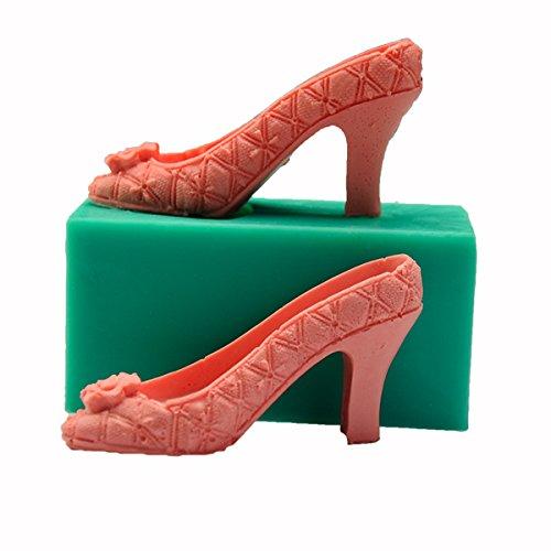 aliciashouse 3D Chaussures à talons femme Moule Fondant Gâteau Moule en silicone