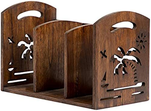 Bücherregal Desktop, tragbare Ablage Regal Organizer Rack, Massivholz Dekor Display M l, für Büro und Zuhause