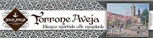 Dolci Aveja - 180gr Handwerklich hergestellter weißer, weicher Nougat mit Mandeln - hergestellt in Italien