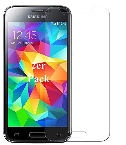 Smartphone Equipment [2er Pack] Panzerglas für Samsung Galaxy S5 Mini, Echtglas H9, Glasfolie Schutzfolie Glas Folie Panzerfolie Bildschirmschutz