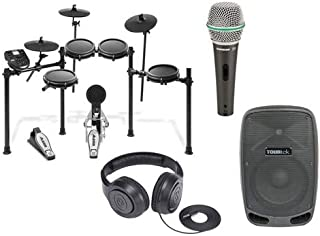 Alesis Nitro Mesh Full Play Pack with Electronic Drum Set, Speaker, Headphones, and Microphone