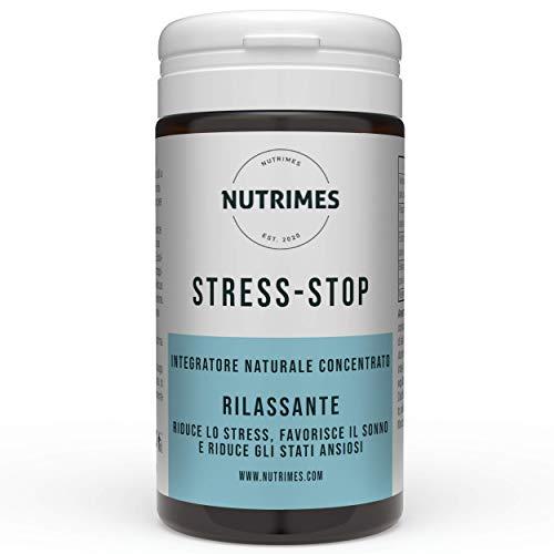 STRESS-STOP / Integratore per lo STRESS/ Ingredienti naturali e concentrati per diminuire stress, favorire il sonno e ridurre gli stati ansiosi / NUTRIMES