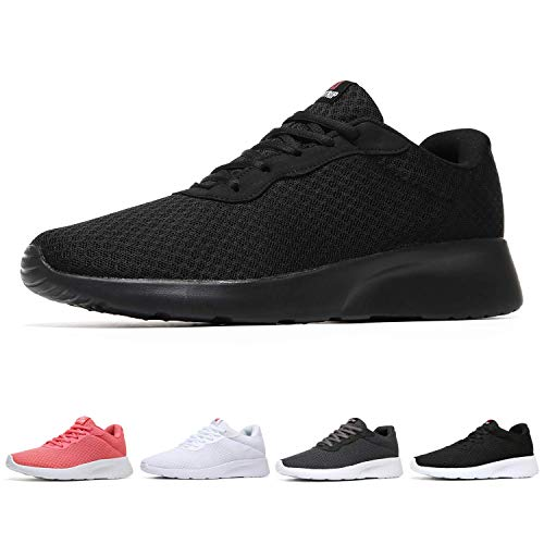 MAIITRIP Womens Gym Sneakers Casual Ladies Lightweight Fashion Walking Trail Running Sport Athletic Tennis Shoes All Black Size 7
