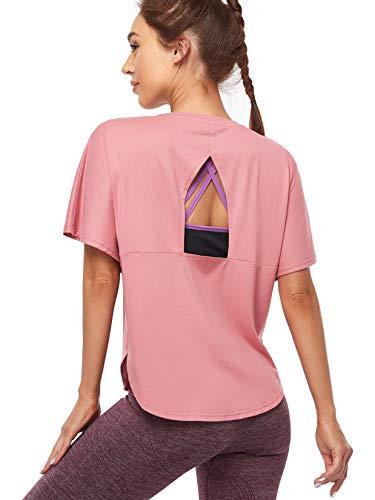 COOTRY - Camiseta deportiva para mujer de manga corta para y