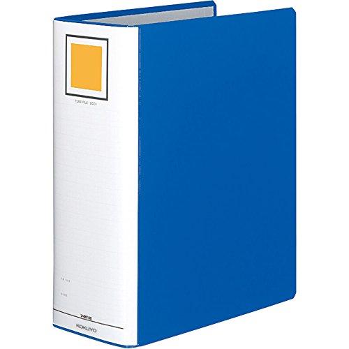 コクヨ ファイル パイプ式ファイル A4 2穴 1000枚収容 青 フ-E6100B