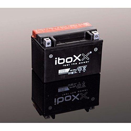 Iboxx Motorrad Batterie YTX7A-BS, 12 Volt, 6 Ah, AGM wartungsfrei inkl Säurepack für Kymco New Sento 50 i 4T, V7, V70000, Bj. 2013-2015