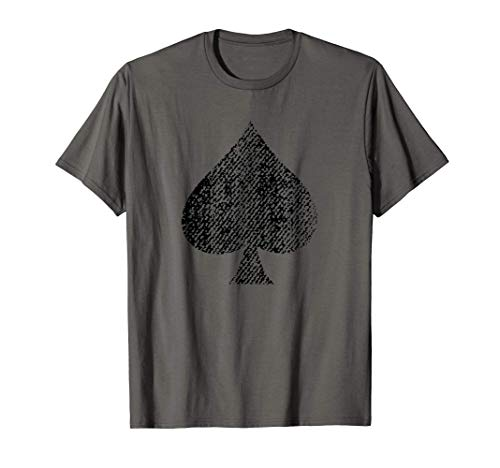 As de picas [Ace of Spades] cartas de póquer Camiseta