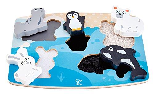 Hape International- Puzle Animales Polares Y Texturas, Multicolor, 40 X 50 Cm (E1620) , color/modelo surtido