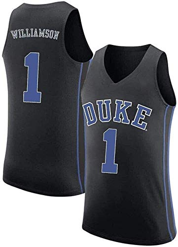 csd Men's Basketball Jersey Duke University 1 Zion Williamson Retro Embroidered Jerseys, Mesh Breathable Sleeveless Vest Sports Tops (Color : A, Size : XL:185cm/85~95kg)