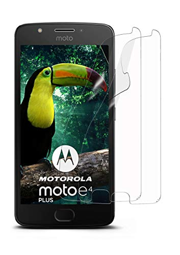 moex 2X Motorola Moto E4 Plus | Schutzfolie Klar Bildschirm Schutz [Crystal-Clear] Screen Protector Display Handy-Folie Dünn Bildschirmschutz-Folie für Motorola Moto E4 Plus Bildschirmfolie