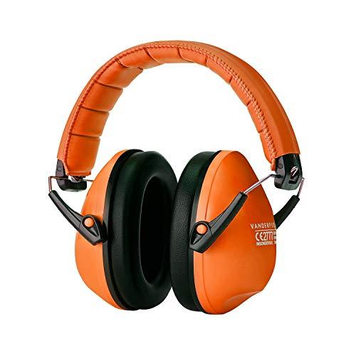 Lärmschutz Kopfhörer Kinder - Gehörschutz Kapselgehörschutz Schutzkopfhörer - Faltbar Komfortabel Gehoerschutz - Zusammenklappbar Verstellbare Stirnband Ohrenschützer für Erwachsene Kinder Frau