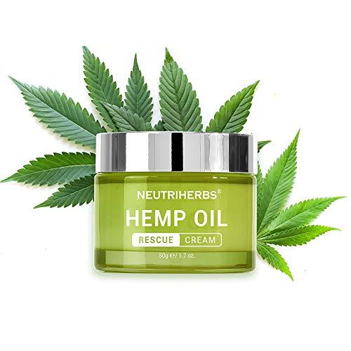 Neutriherbs Hemp Seed Oil Cream with Hyaluronic Acid, Restoring, Soothing, Moisturizing