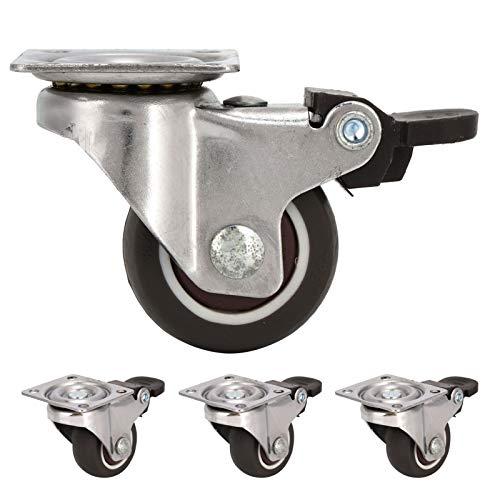 cersalt Stuhlrad, Bürostuhlrad, Möbelzubehör mit präzisen Kugellagern für Lagerschränke(38 Steering Brake Wheel)