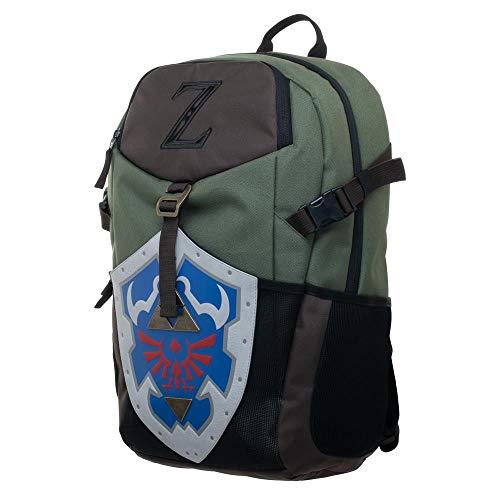 Nintendo Zelda Video Game Link Shield Green Canvas Backpack