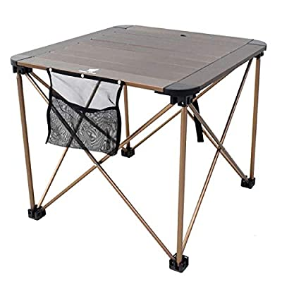 Geertop Portable Folding Camping Table Roll Up ...