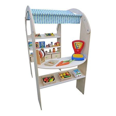Nemmer Holzspielwaren 95706 Nein Kaufladen-Marktstand mit Markise Spielzeug