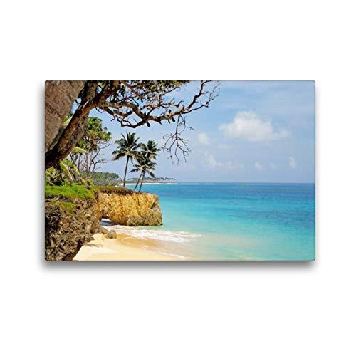 Premium textiel canvas 45 cm x 30 cm dwars, perfect vakantiegevoel op het paradijs zandstrand met palmen en turquoise water | muurschildering Andamansee, India (CALVENDO plaatsen);CALVENDO plaatsen