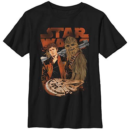 Solo: A Star Wars Story Boys' Co-Pilot Cartoon Black T-Shirt