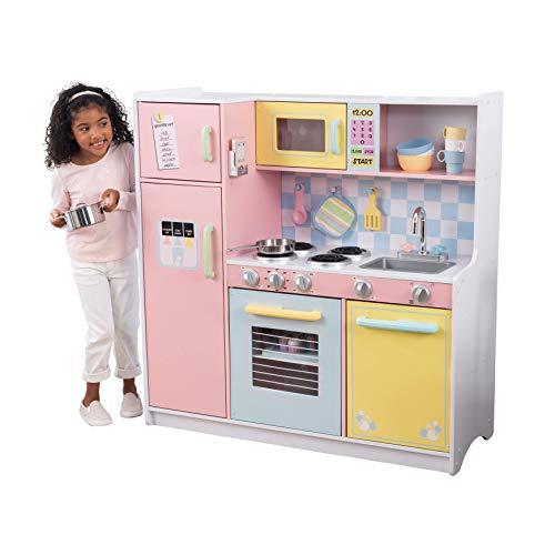 KidKraft 53181, Cucina da gioco in legno per bambini con accessori per giochi di ruolo inclusi - Pastello