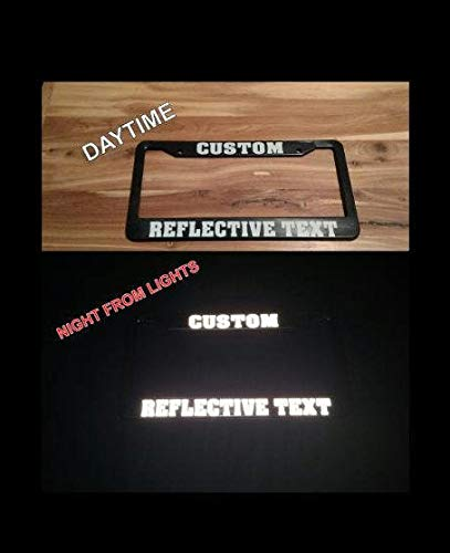 Reflective Custom License Plate Frame, Personalized License Plate Frame, Funny License Plates, Auto License Plate Holder, Car Accessories Auto Car Novelty Accessories License Plate Art - 12x6 Inches