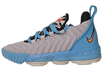 Nike Kids Lebron XVI Basketball Sneaker  12 Little Kid  Light Bone/Tour Yellow-bright Crimson