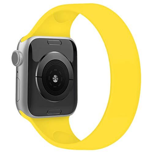 Correa Solo Loop para apple watch serie 6 SE 5 4 bandas 40 mm 44 mm pulsera deportiva de silicona Correa iWatch 3/2 banda 38 mm 42 mm correa de reloj