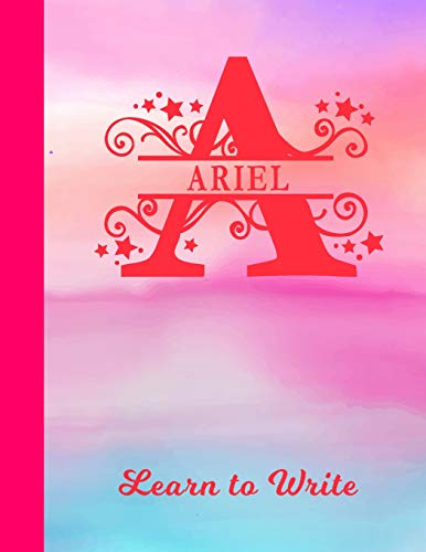 Ariel Learn to Write: Personalized Letter A First Name Handwriting Primary Composition...
