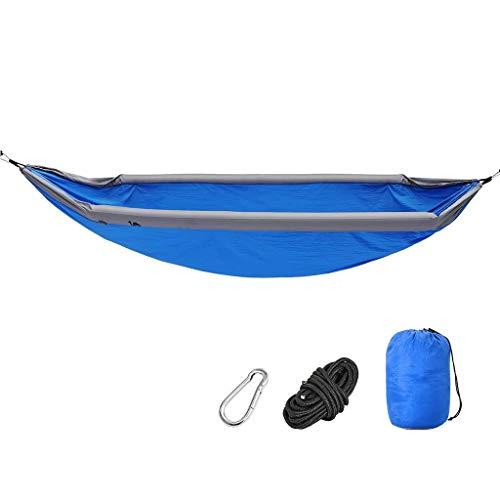 LYMUP Hamacas, Muebles de camping Inflables Adecuado para múltiples escenarios al aire libre Portátil y cómodo Anti-rollover Carga 200 kg Cómodo (Color: Azul, Tamaño: 270 x 140 cm)