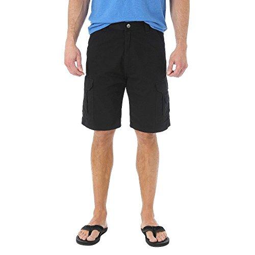 Wrangler Authentics Men's Twill Cargo Short, Black, 38