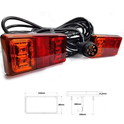 LED Rückleuchten Set 7 polig verkabelt 12V / 24V Anhänger Beleuchtung Rücklicht