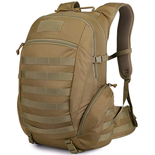 Mardingtop 35L Military Backpack Tactical Rucksack MOLLE Assault pack for Outddor Camping Hiking Traveling (Khaki)