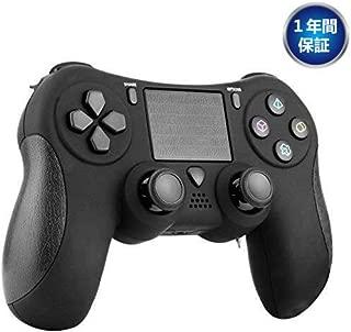 Diswoe PS4 コントローラー ワイヤレス 6軸センサー タッチパッド イヤホンジャック 2重振動 重力感応 無線 Bluetooth接続 充電ケーブル付き PS4 Pro/Slim PC対応 ゲームパッド