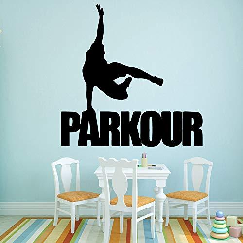 Shentop Dibujos Animados Parkour Mural de la Pared extraíble Etiqueta de la Pared vivero decoración de la habitación calcomanías Creativas Pegatinas 58 * 58 CM