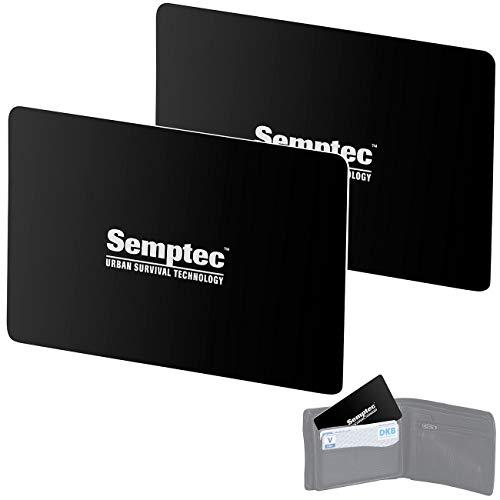 Semptec Urban Survival Technology Kreditkartenschutz: 2er-Set RFID- & NFC-Blocker-Karte im Scheckkarten-Format (RFID Schutz)