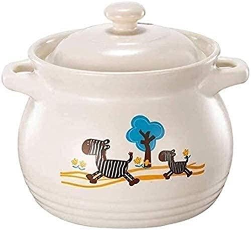 Cazuela de cerámica para cazuela de arcilla, resistente a altas temperaturas, transferencia de calor rápida, acumulación de calor concentrado, duradera, que puede hacer sopa (tamaño: capacidad 6L)