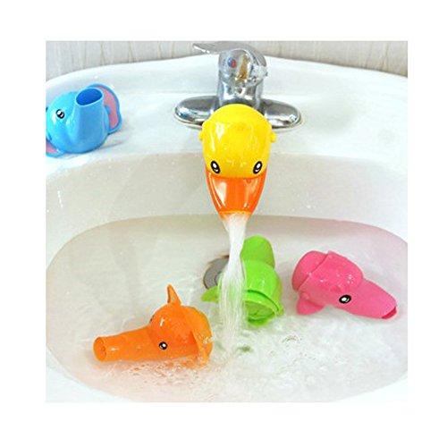 Isuper Wasserhahn Extender, Wasserhahn Verlängerung in Cartoonfigur für Baby Kinder Hände Waschen Badezimmer Accessoires (Ente)