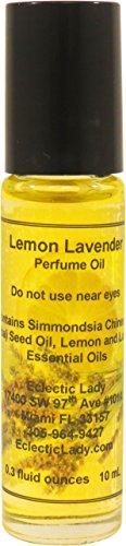 All Natural Lemon Lavender Perfume Oil, Small - Organic Jojoba Oil, Essential Oils, Roll On, 0.3 oz