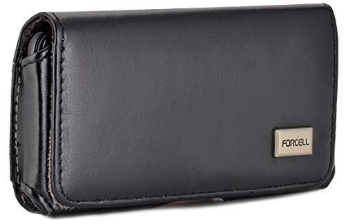 Burkley Gürteltasche für Sony Xperia XZ3 Handyhülle Schutzhülle geeignet für Sony Xperia XZ3 Hülle mit Gürtel-Schlaufe (Schwarz)