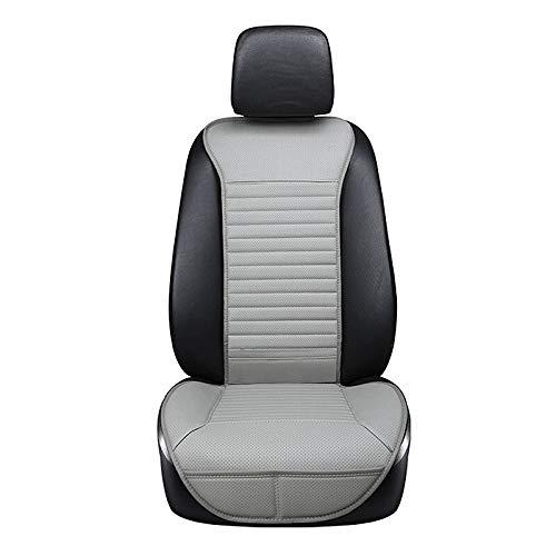 YBINGA Funda de asiento de coche en el cojín de la familia del asiento del coche de calidad resistente al desgaste, juego de fundas de cuero (color: gris)