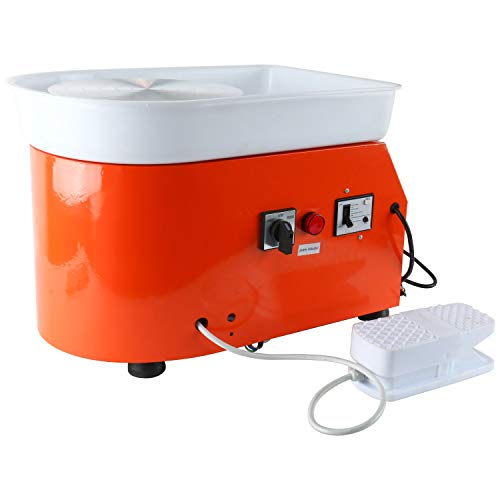 YaeTek 25CM 350W Electric Pottery Wheel Machine Ceramic Work Clay Forming Machine DIY Art Craft Tool 110V US Plug