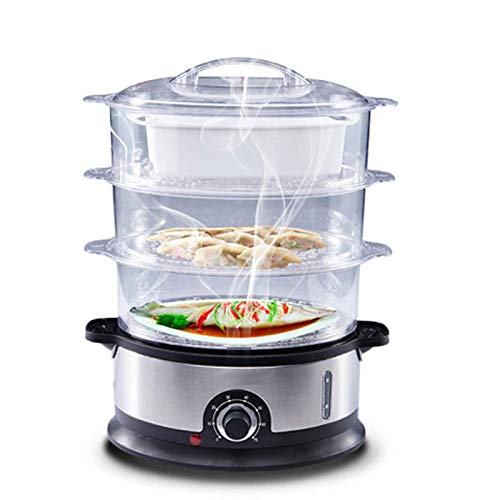 WANGIRL Egg Boiler,Multifunction Electric Steamer 3 High Capacity Layers Home Steam Pot Automatic Power-Off Seafood Steamer LOLDF1