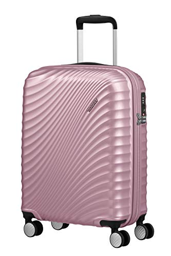 American Tourister Jetglam Spinner S Bagaglio a Mano, 55 cm, 35.5 litri, Rosa (Metallic Pink)