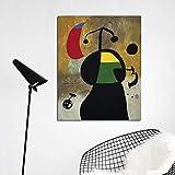 YuanMinglu Realistischer Leinwanddruck drucken Wohnzimmer Hauptdekoration Moderne Wandkunst Ölgemälde Poster Bild rahmenloses Gemälde 75x93cm