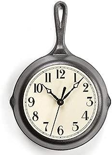 cast iron pan clock