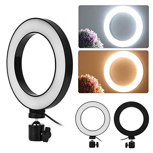 Telefon-Ring-Lampe, LED-Licht, Ring, Beleuchtung für Kamera, Smartphone, Foto, Studio, Video, 3 Beleuchtungsmodi, 10 Helligkeitsstufen, 6 Zoll