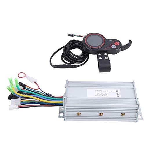 Controlador de motor de scooter eléctrico 2 en 1 LH100 60V Controlador de velocidad de bicicleta eléctrica Controlador de pulgar LCD duradero Alta robustez para entretenimiento(500W)